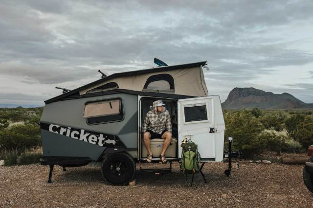 Cricket by TAXA Outdoors is an off grid camping trailer