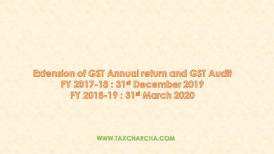 Photo of Extension of due date of GSTR 9C for FY 2017-18 and 2018-19 to 31-12-2019 and 31-03-2020 respectively