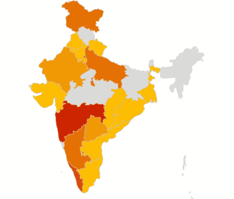 COMPLETE LIST OF RED, ORANGE AND GREEN ZONES IN INDIA