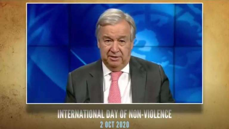 International Day of Non-Violence highlights the remarkable power of non-violence, peaceful protest: UN Chief