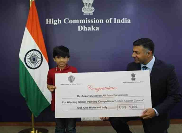 Bangladeshi boy wins special prize in Global Art Competition conducted by ICCR