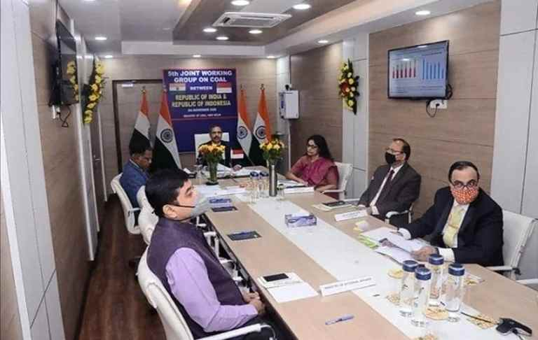 India hosts 5th Joint Working Group on Coal betweenIndia and Indonesia through video conference