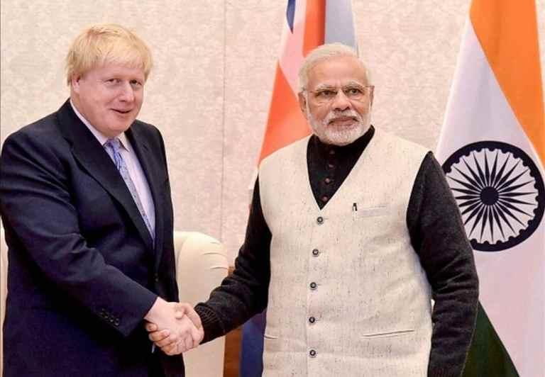Prime Minister Modi hold a telephonic conversation with UK President Boris Johnson