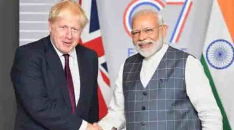 British Prime Minister Boris Johnson canceled a visit to India