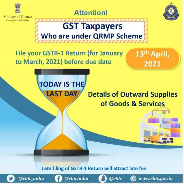 Today is last Date of GSTR-1