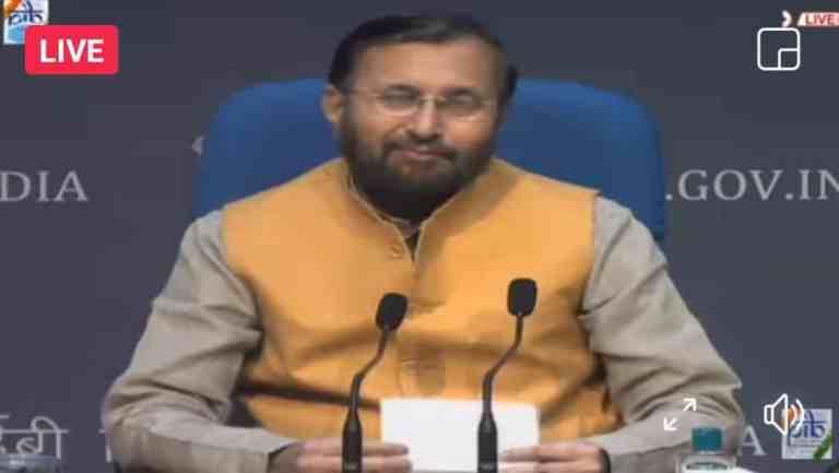 LIVE: Cabinet briefing by Union Minister Prakash Javadekar