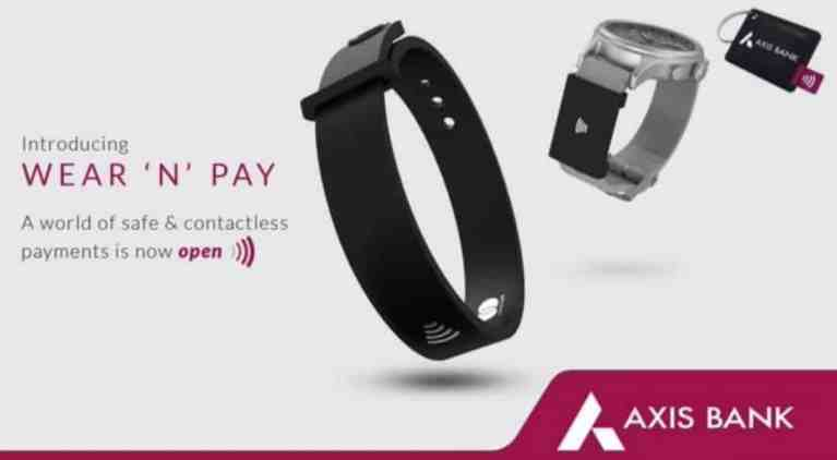"""""""Wear N Pay"""" contactless wearable payment device launched by Axis Bank"""