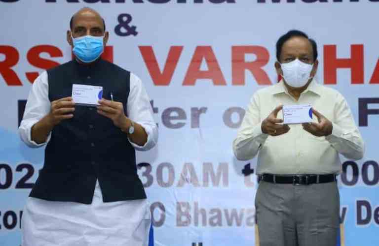 Defence Minister Shri Rajnath Singh unveils first batch of anti-COVID drug developed by DRDO