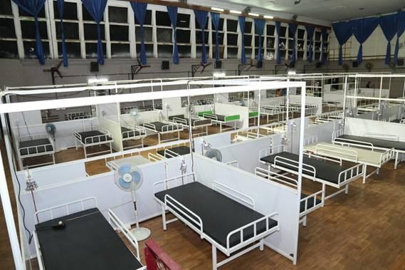Mega make-shift COVID centre set up at Kochi Refinery premises