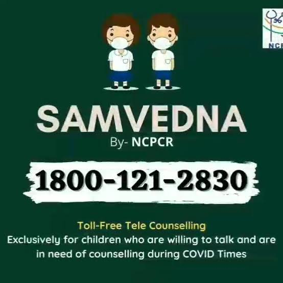 Children impacted by Covid-19 Pandemic being provided Tele Counselling through SAMVEDNA