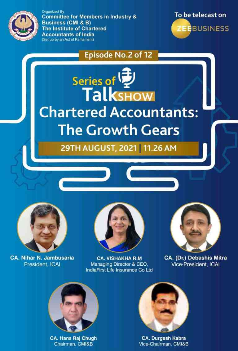 """Must watch – Catch the 2nd Episode of the Talk Show """"Chartered Accountants : The Growth Gears"""""""