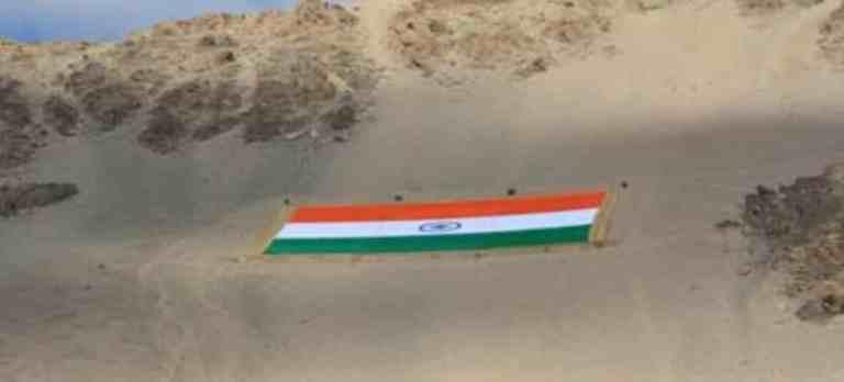 Ladakh LG inaugurates 'World's largest khadi national flag' in Leh