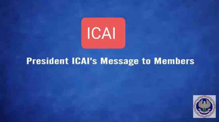President ICAI CA Nihar N. Jambusaria addressing Members regarding Latest Developments related to CA Profession