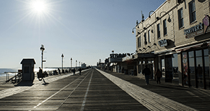 the Jersey shore boardwalk