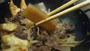 牛鍋のコンニャク