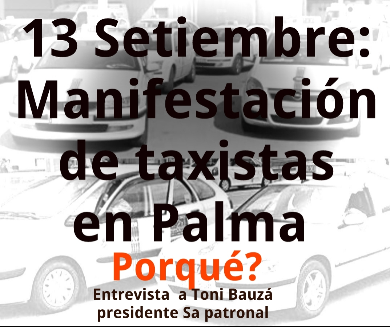 Convocan una manifestación de taxistas para el 13 de septiembre