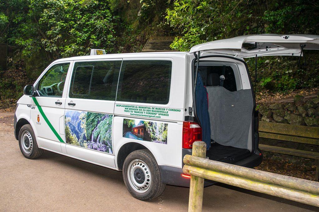 Taxiservice im Norden von La Palma · Anreise zu den Wandergebieten · Kanarische Inseln