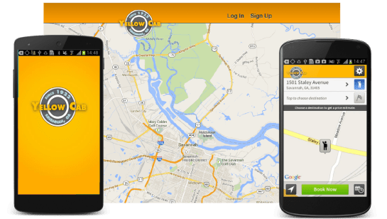 Yellow Cab Savannah's Passenger Booking App