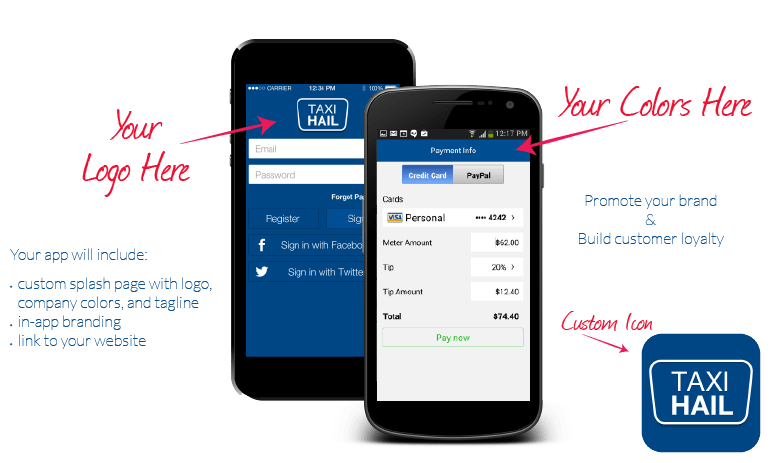 TaxiHail Customization Process