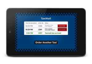 TaxiHail Kiosk - Orders Status Screen