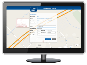 TaxiHail Web Booking Ride Details Confirmation Screen