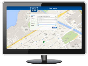 TaxiHail Web Booking Sign-up Screen