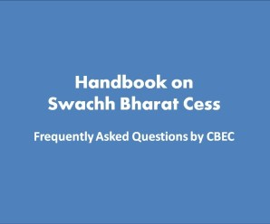 Handbook on Swachh Bharat Cess