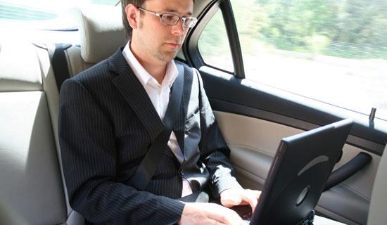 putnik u vozilu