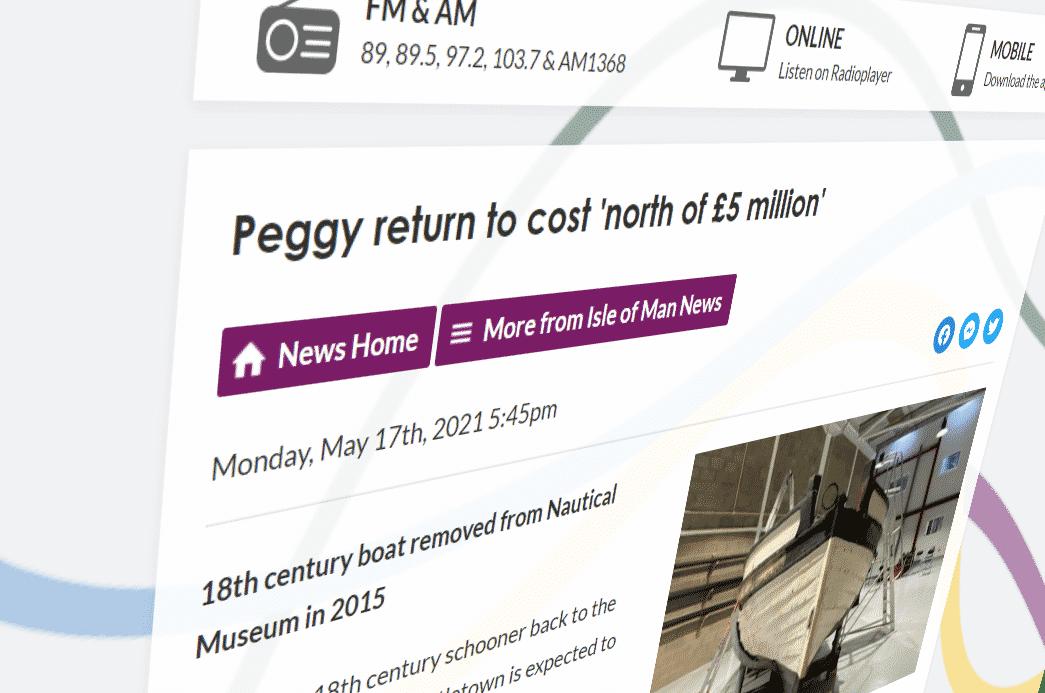 Manx Radio Report - Peggy return to cost north of £5 million
