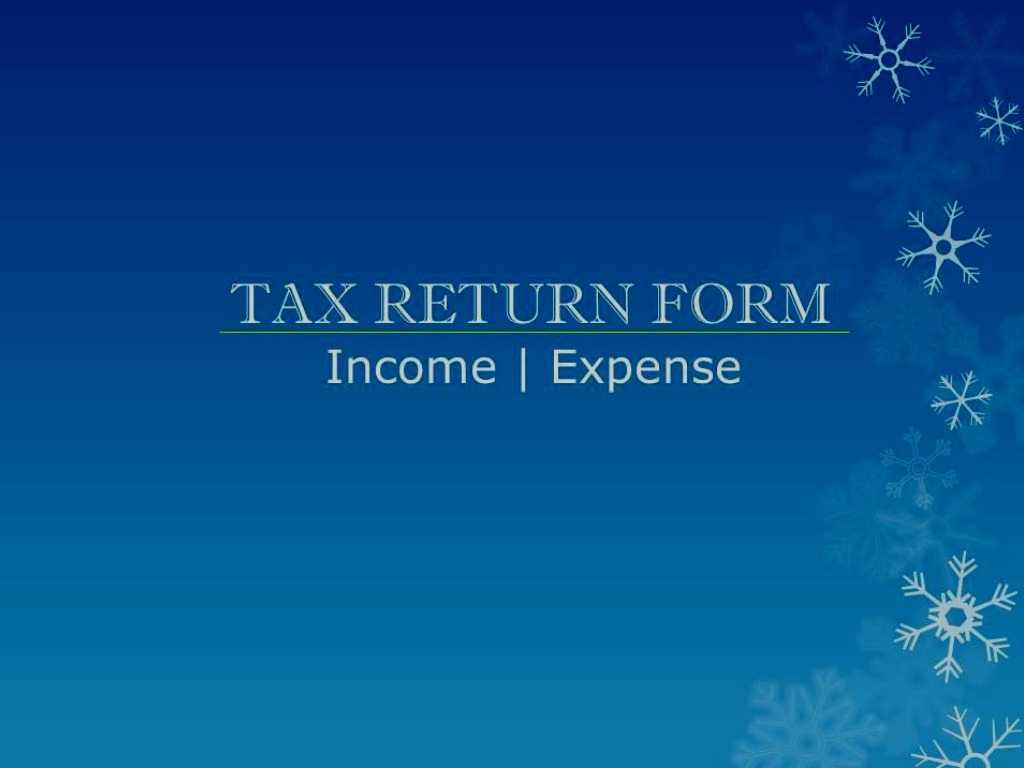 Income & Expense in Return Form Image