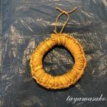 高島市椋川のお母さんたちに、藁で編んだ鍋敷きを教えていただきました。
