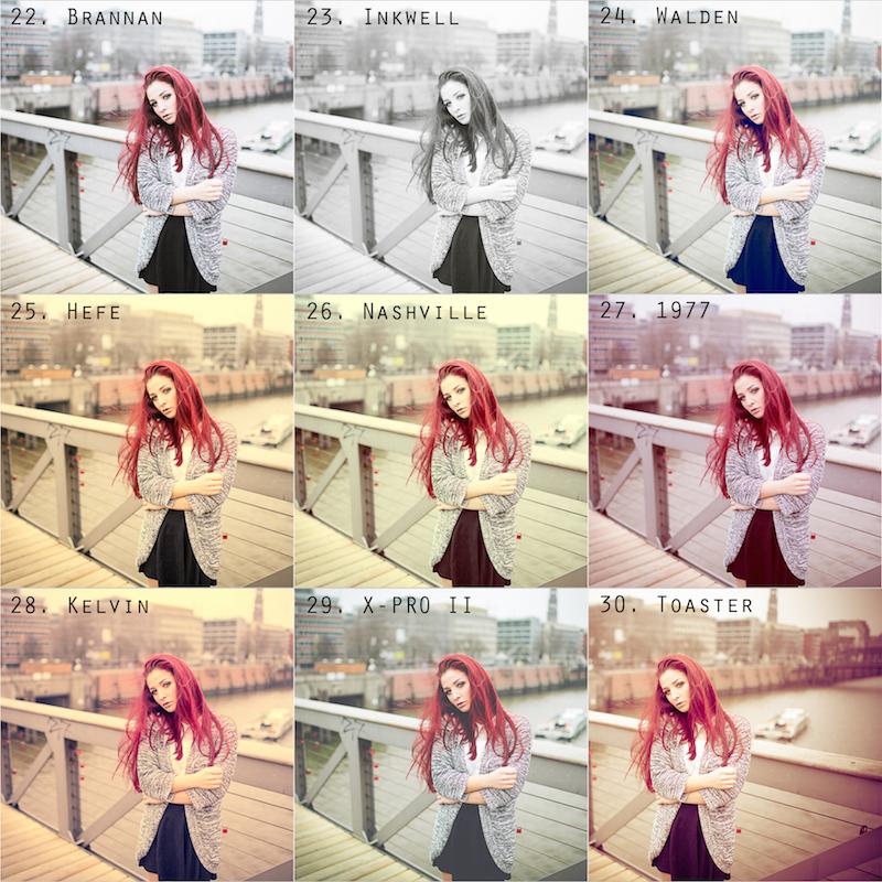 Vorschau Instagram Presets 21 bis 30