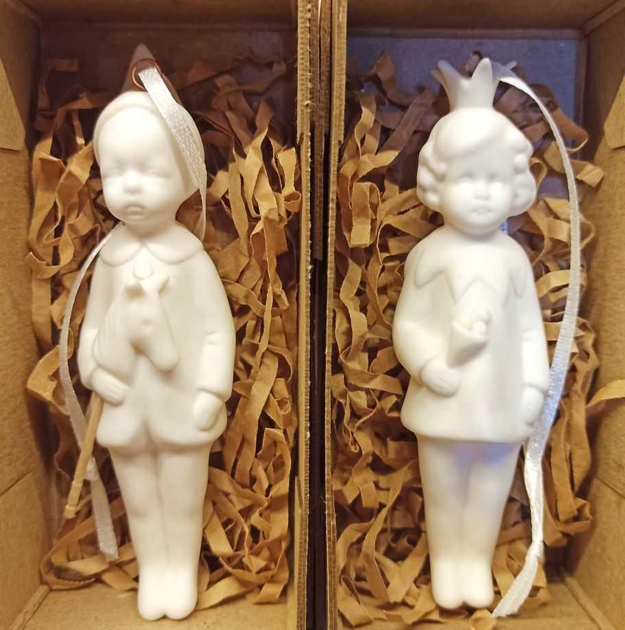 Керамические елочные игрушки