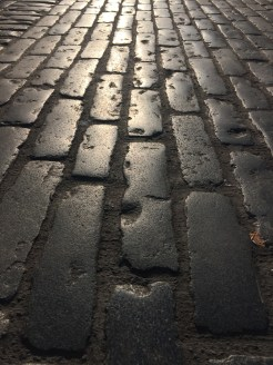 Cobbled streets in covent garden