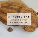 5 Ingredient Almond Butter Cookie Recipe - This simple and easy recipe is sure to satisfy even the most dedicated health nuts! #celiac #celiacawareness #celiacdisease #celiacrecipe #glutenfreerecipe #almondbutter #peanutfree #glutenfree #glutenfreecookie #5ingredient #easyrecipe #recipe #5ingredientcookie #almondcookie #almondbuttercookie #glutenfreealmond