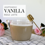 Adaptogenic Vanilla Rose Latte - Tayler Silfverduk - Keep it warm and rosy with this beneficial latte! Want to adapt to stress better? Adaptogens can help you do that! This adaptogenic latte is the perfec thing to get you started with using adaptogens.