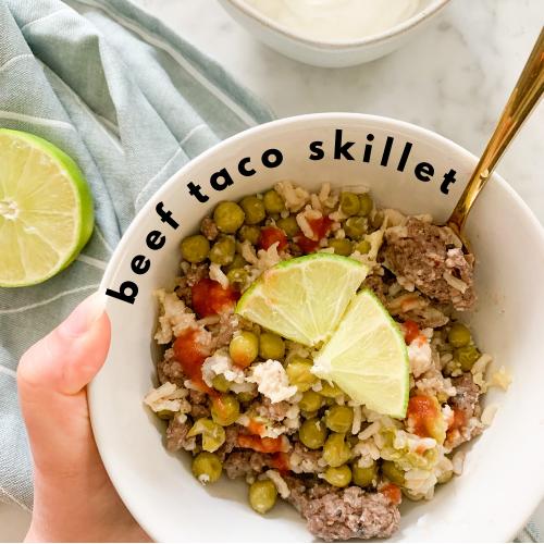 Beef Taco Skillet