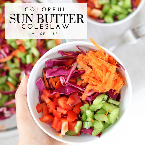 Colorful Sun Butter Coleslaw