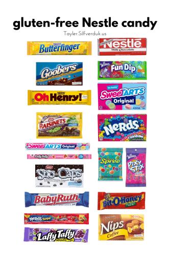 Gluten-free Nesle Candy - Gluten-Free Nestle Halloween Candy - What Candy is Gluten-free From Nestle