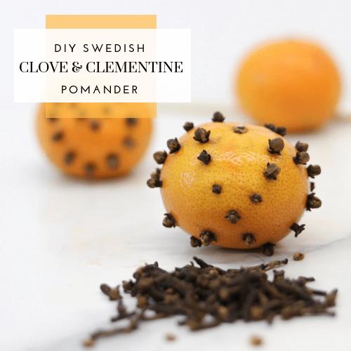 DIY Swedish Clove and Clementine Pomander
