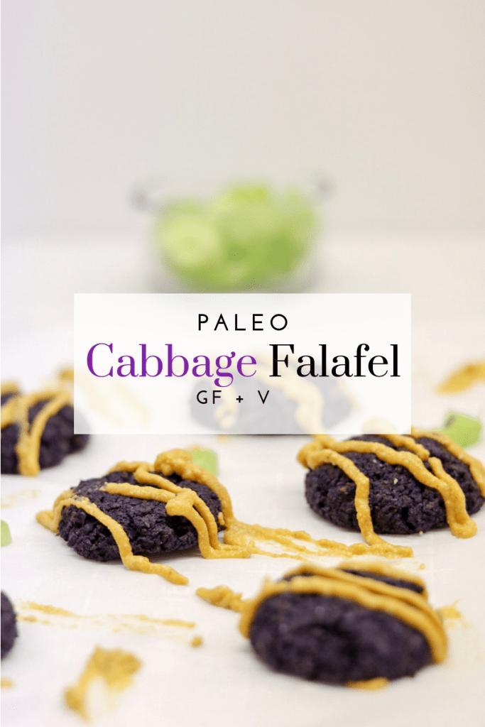 Paleo Falafel Recipe - Tayler Silfverduk DTR - paleo falafel, purple cabbage recipe, cabbage falafel, legume-free falafel, no legumes, #glutenfreefalafel #easyfalafel #bakedfalafel #paleofalafel #prebioticfalafel #lowcarbfalafel #lowcarbrecipe #glutenfreerecipe #paleorecipe #dairyfreerecipe #celiacdietitian #glutenfreedietitian #paleodietitian #rd2be #dietetics #prebiotic #guthealthyrecipe #prebioticfood #prebioticrecipe