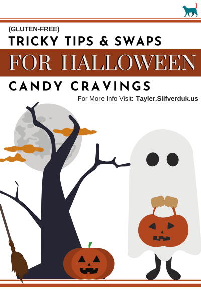 Tricky Tips and Swaps for Halloween Candy Cravings - Tayler Silfverduk - #trickortreat #glutenfreehalloween #halloween #healthyhalloween #celiacholiday #celiachalloween #healthyswaps #ingredientswap #dtr #dietetics #nutritionfacts #nutritiontips #holidaynutrition #halloweenrecipes #halloweenideas #halloweeninspo #cravingswaps #candycravings #homemadecandy #glutenfreelifestyle #glutenfreekids