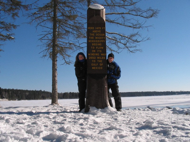 Snowmobiling, Mississippi Headwaters, Itasca