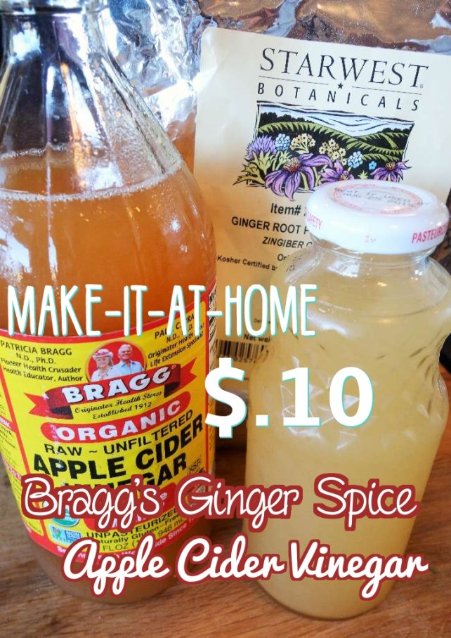 DIY Bragg's Ginger Spice Apple Cider Vinegar Recipe