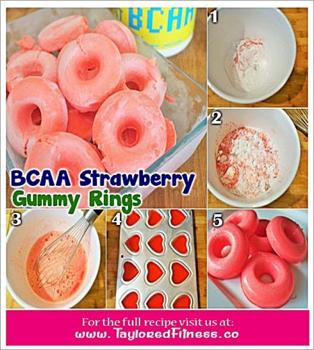 BCAA Strawberry Gummy Rings