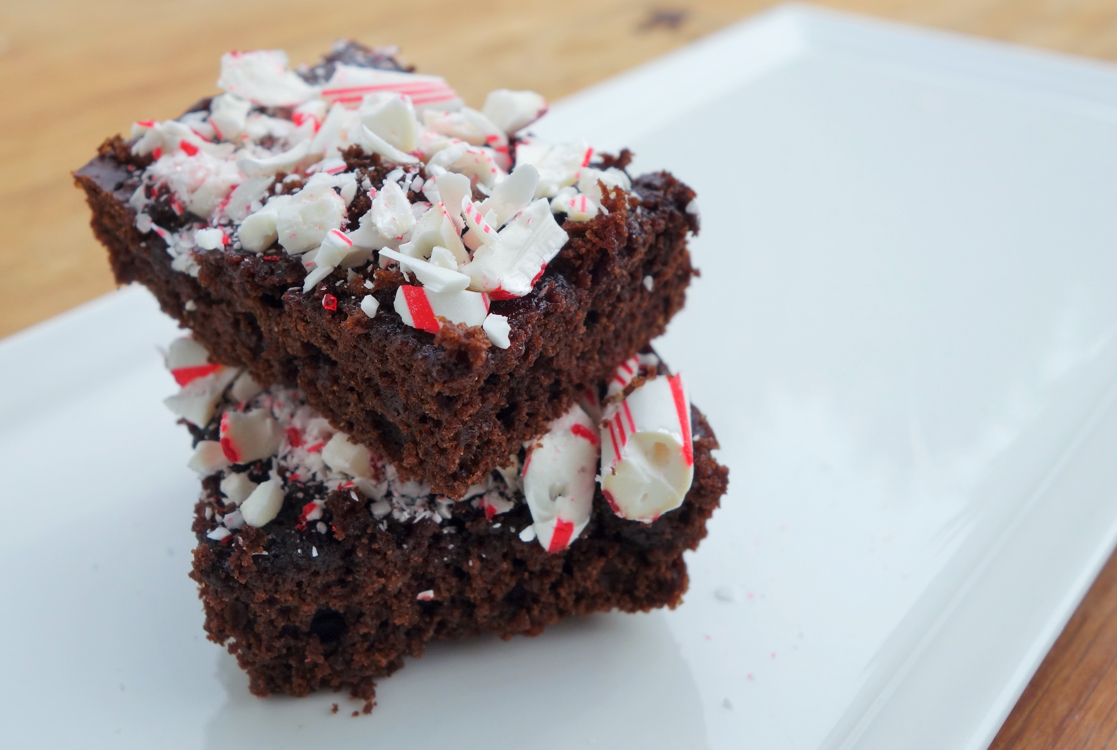 Peppermint Gluten-Free Brownies