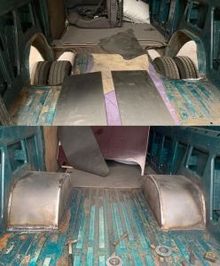 Van wheel arches