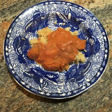 Chicken Tikka Tandoori Dish Over Rice