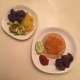 "Butternut squash vegan ""quesadilla"" and cauliflower sides"