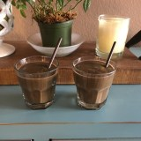 Two smoothies for two athletes in recovery mode. Share this recipe with your training partner!